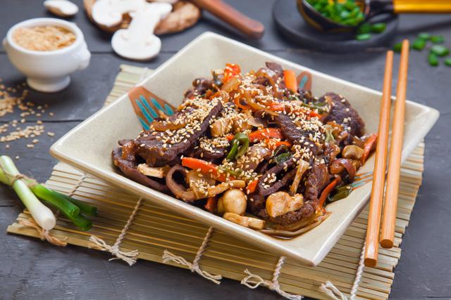 لحم علي الطريقة الكورية
