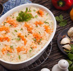 طاجن ارز بالجمبري