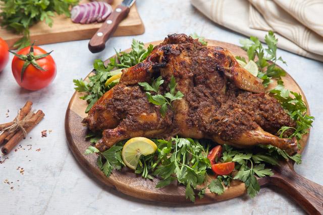 دجاج مشوي بصوص البيستو