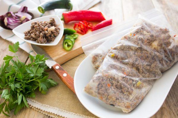 تخزين عصاج اللحم المفروم