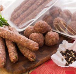 تخزين كفتة لحم جاهزة للشوي
