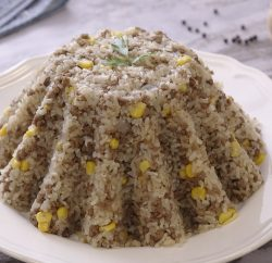 ارز بالعصاج والذرة