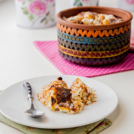 ارز معمر حلو بالشعرية وجوز الهند