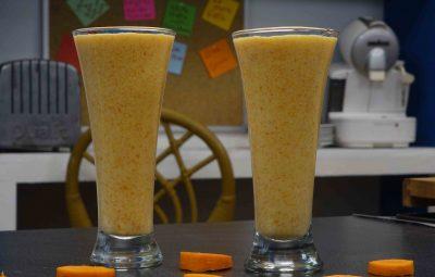 عصير البرتقال بالجزر و الخوخ