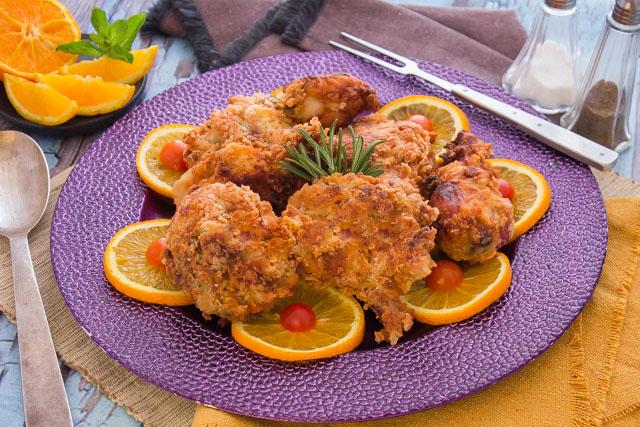 دجاج بالبرتقال