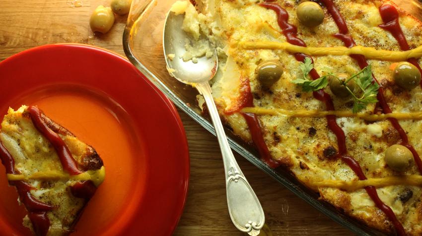 بطاطس بالبيض والزبدة
