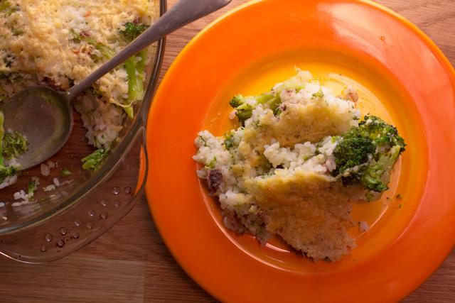ارز بالبروكلي جراتيناتو