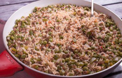 ارز مكسيكي باللحم المفروم