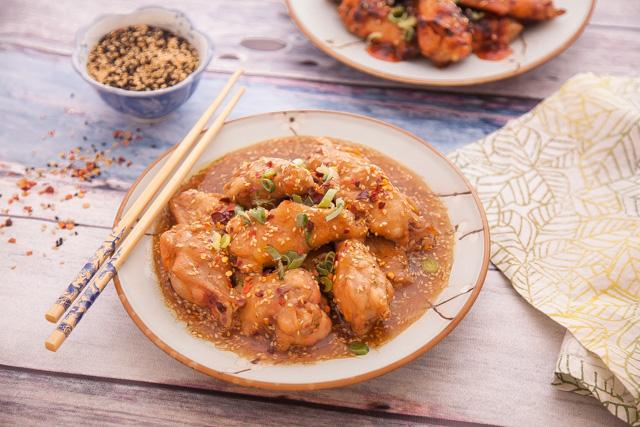 أجنحة الدجاج بالجريفي الصيني