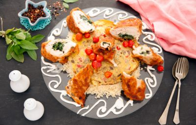 دجاج بانيه مع ارز صيني