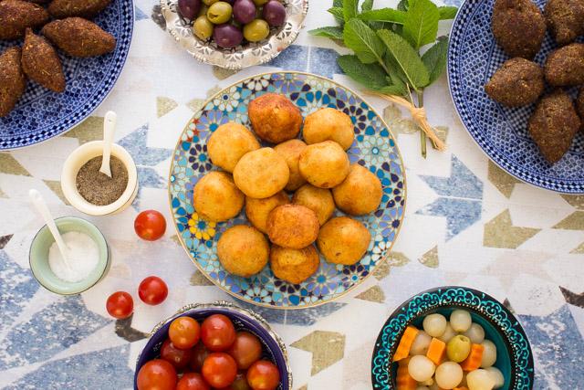 كبة البطاطس والشاورما