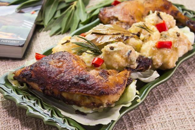 كرات بطاطس بيورية مع اوراك الدجاج
