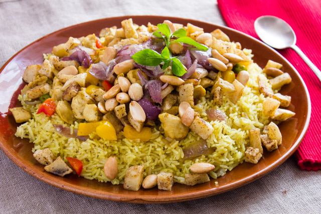 ارز بالدجاج