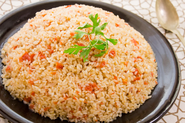 ارز بالبصل و الكمون