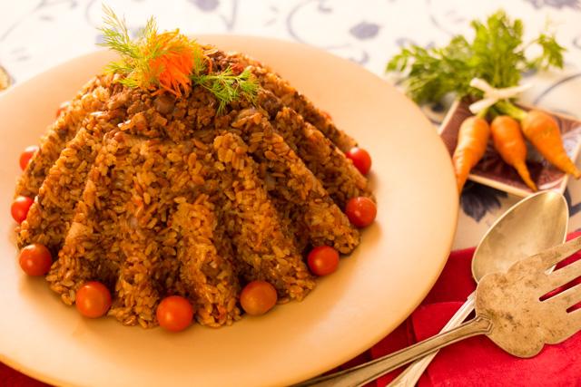 أرز بلسان العصفور واللحمة المفرومة