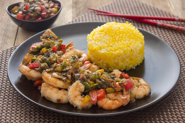 أرز بالزعفران والشبت