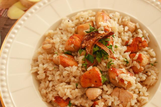 ارز بالدجاج و الجنزبيل