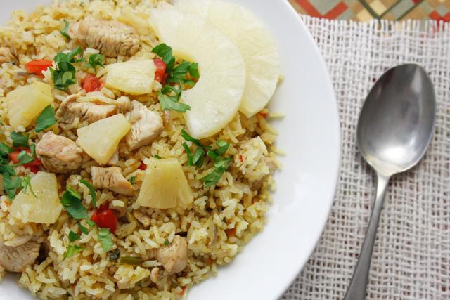ارز بالدجاج و الاناناس و الكارى