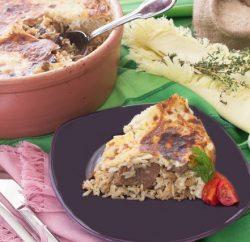 كباب حلة مع ارز بالبشاميل