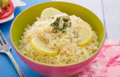 ارز ابيض بحليب جوز الهند