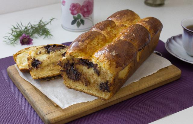 خبز بحشو النوتيلا