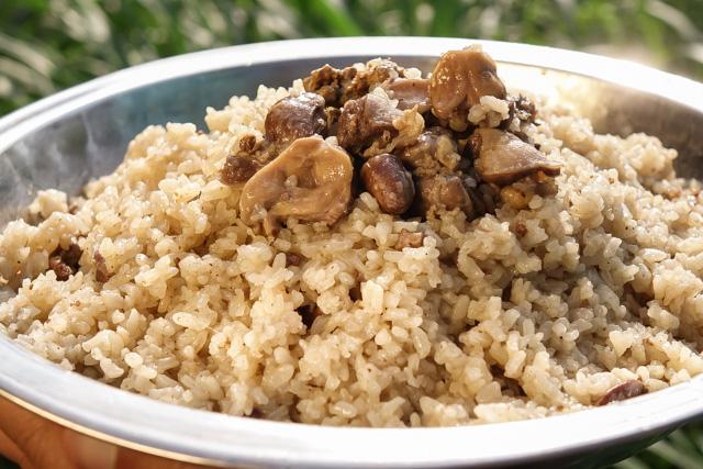 ارز بالكبد والقوانص