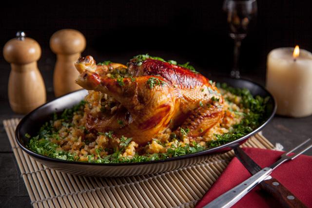 صينية دجاج مشوي بالخضروات