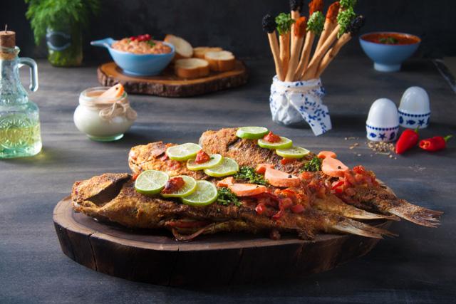 سمك بوري مشوي
