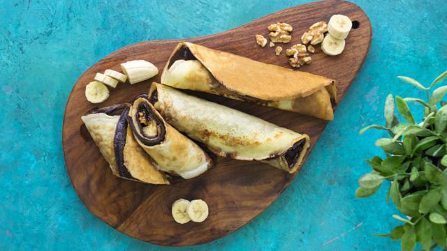 بان كيك الموز + البراونيز