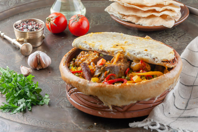 طاجن فخار علي الطريقة التركية
