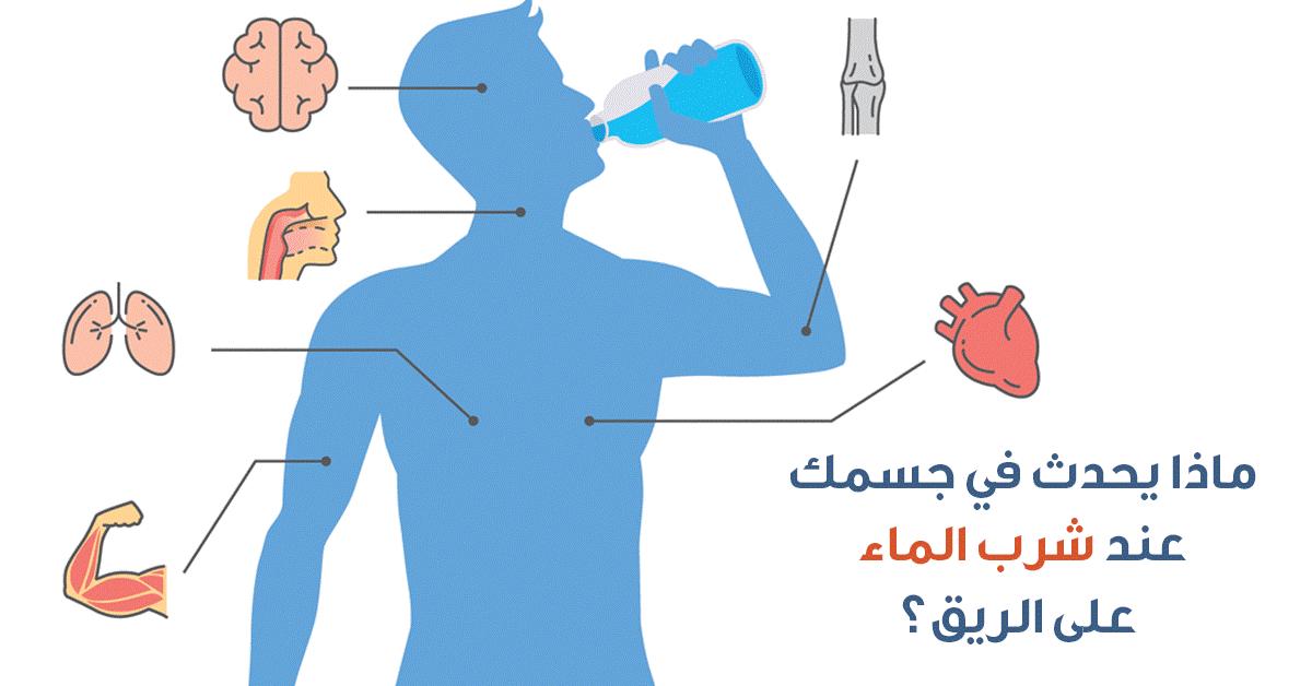 """فوائد شرب الماء وماذا يحدث لجسمك يحدث لجسمك عند تناول كوب ماء """"على الريق"""""""